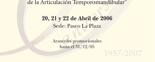 D�as 20, 21 y 22 de Abril de 2006 - Sede: Paseo la Plaza